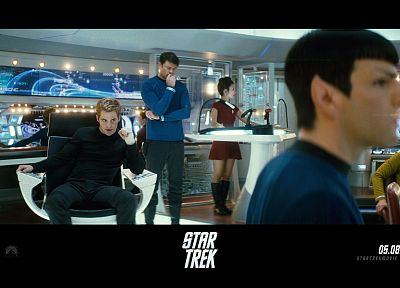 movies, Star Trek, Spock, James T. Kirk - random desktop wallpaper