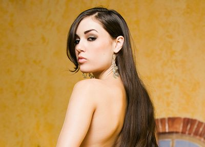 brunettes, women, Sasha Grey - desktop wallpaper
