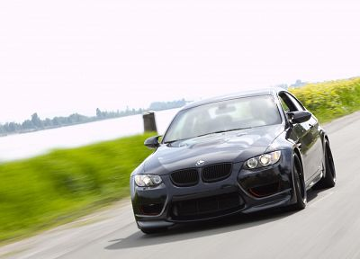 BMW, black, cars, vehicles, BMW M3, black cars, front view, German cars, automobiles - related desktop wallpaper