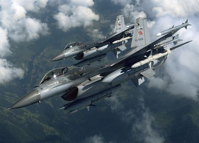 aircraft, planes, vehicles, F-16 Fighting Falcon, Turkish Armed Forces - random desktop wallpaper