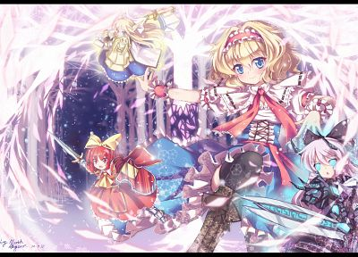 blondes, women, Touhou, Alice, short hair, Alice Margatroid, hair band - desktop wallpaper