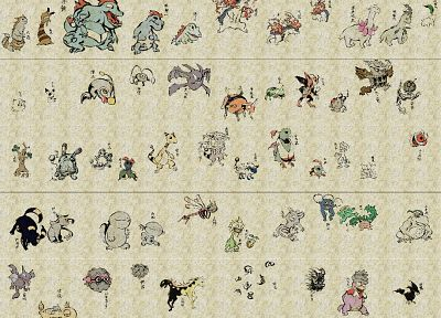 Pokemon, scrolls - desktop wallpaper