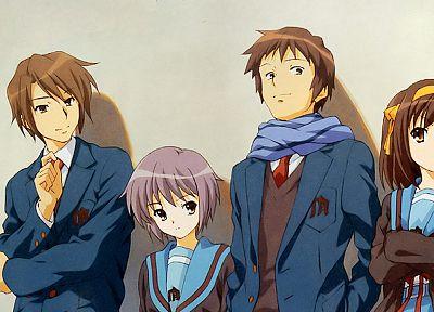 Nagato Yuki, The Melancholy of Haruhi Suzumiya, anime, anime boys, anime girls, Suzumiya Haruhi - related desktop wallpaper