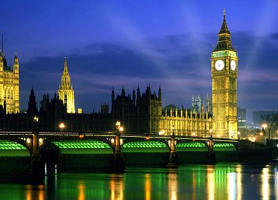 night, England, London, Big Ben, Palace of Westminster - random desktop wallpaper