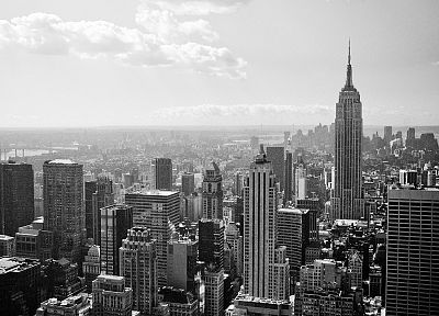cityscapes, architecture, urban, buildings, grayscale, monochrome - related desktop wallpaper