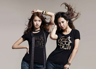 women, Girls Generation SNSD, Kwon Yuri, Im YoonA - random desktop wallpaper