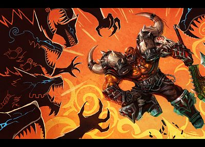 World of Warcraft, orcs, Garrosh Hellscream - related desktop wallpaper