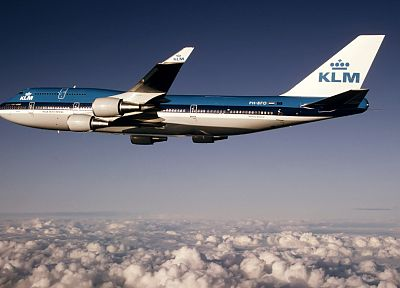 nature, aircraft, klm, Boeing 747-400 - random desktop wallpaper