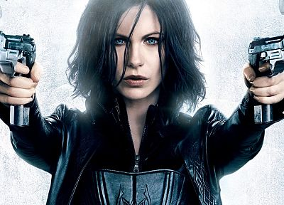 women, movies, Kate Beckinsale, girls with guns, Underworld Awakening - related desktop wallpaper