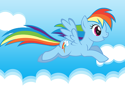 rainbows, My Little Pony, Rainbow Dash - random desktop wallpaper