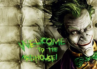 video games, The Joker, Batman Arkham Asylum - random desktop wallpaper