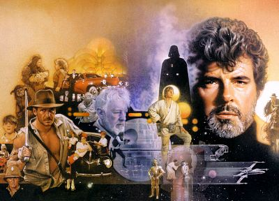 Star Wars, Indiana Jones, George Lucas - random desktop wallpaper