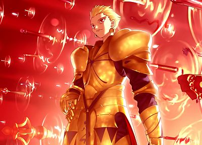 Fate/Stay Night, knights, Gilgamesh, Type-Moon, Fate series - desktop wallpaper