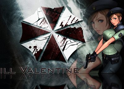 video games, movies, Resident Evil, Jill Valentine, Umbrella Corp., logos - related desktop wallpaper