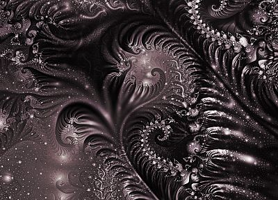 abstract, fractals, monochrome - related desktop wallpaper