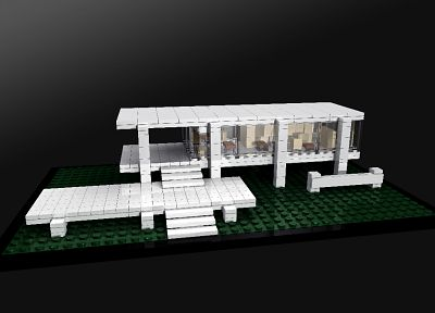 Farnsworth House, Mies Van Der Rohe, Legos - random desktop wallpaper