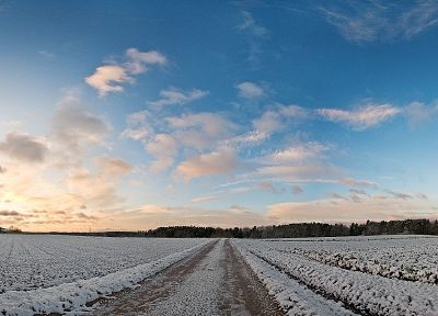 landscapes, nature, winter, roads - related desktop wallpaper