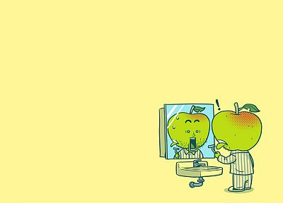 mirrors, shaving, apples - desktop wallpaper