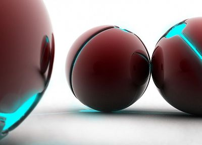 abstract, balls, spheres, 3D - related desktop wallpaper
