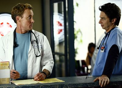 Scrubs, Zach Braff, John C. McGinley, stethoscopes - related desktop wallpaper