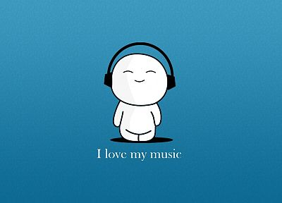 headphones, love, music - desktop wallpaper