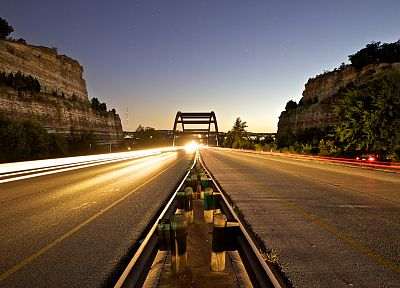 cars, bridges, roads, long exposure - related desktop wallpaper