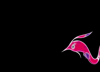 Pokemon, pink, black background, gorebyss - desktop wallpaper
