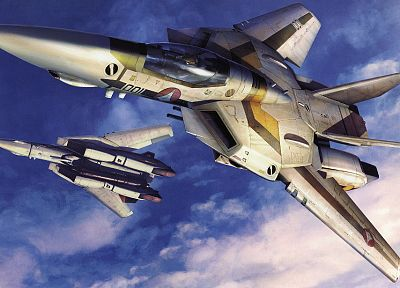 aircraft, Macross, robotech, fokker, artwork, vehicles - desktop wallpaper