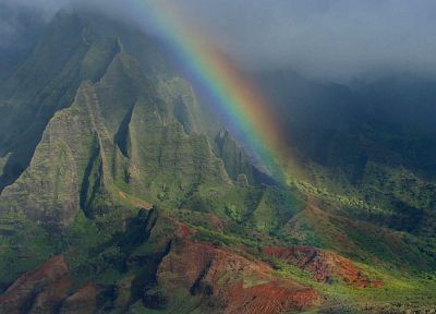 nature, Hawaii, islands, rainbows - random desktop wallpaper