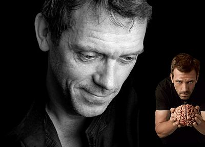 brain, Hugh Laurie, House M.D. - random desktop wallpaper