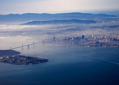 water, cityscapes, bridges, San Francisco, Oakland Bay - related desktop wallpaper