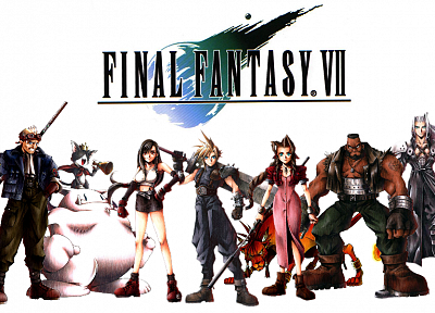 Final Fantasy VII, Sephiroth, Cloud Strife, Barret, Tifa Lockheart, Aerith Gainsborough - random desktop wallpaper