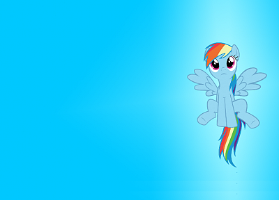 blue, ponies, Rainbow Dash, My Little Pony: Friendship is Magic - desktop wallpaper