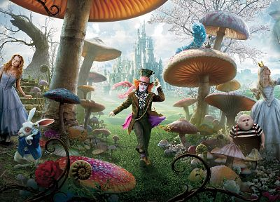 movies, Alice in Wonderland - random desktop wallpaper