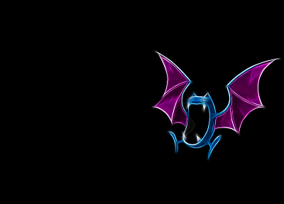 Pokemon, black background, Golbat - random desktop wallpaper