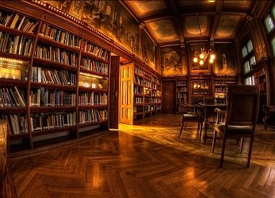 library, books, interior, wood floor - related desktop wallpaper