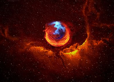 outer space, stars, planets, Firefox, Mozilla, nebulae - related desktop wallpaper