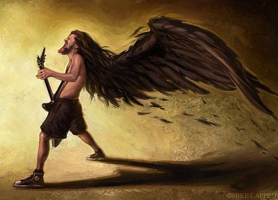 paintings, metal, Pantera music, guitars, dimebag, Dimebag Darrell - random desktop wallpaper