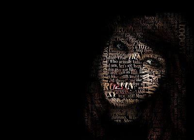typography, Boxxy, typographic portrait - related desktop wallpaper