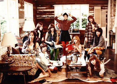 women, Girls Generation SNSD, celebrity, books - random desktop wallpaper