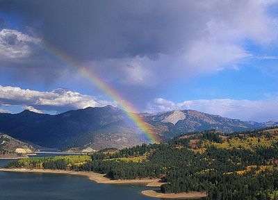 landscapes, nature, rainbows, Idaho - desktop wallpaper