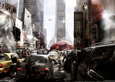 video games, ruins, cityscapes, 3D renders, 3D, Prototype (video game), Activision, mutation - related desktop wallpaper