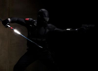 suit, katana, special forces, G.I. Joe, handguns, Snake Eyes - desktop wallpaper