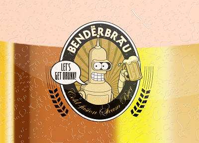 beers, Futurama, Bender - related desktop wallpaper