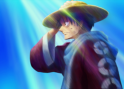One Piece (anime), straw hat, Monkey D Luffy - desktop wallpaper
