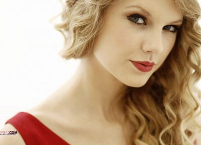 blondes, women, Taylor Swift, celebrity, singers, red dress, white background - desktop wallpaper