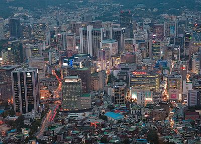 cityscapes, skylines, buildings, skyscrapers, Asians, Asia, Asian architecture, Seoul, city skyline, South Korea, citylife - desktop wallpaper