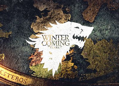 crest, Game of Thrones, Winter is Coming, direwolf, House Stark, wolves - related desktop wallpaper
