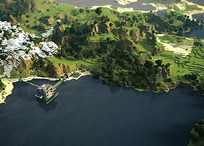 Minecraft, panorama - random desktop wallpaper