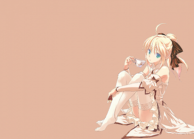 Fate Unlimited Codes, Saber Lily, detached sleeves, Fate series - random desktop wallpaper